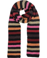 Sonia Rykiel Multico Cardinal Large Stripes Wool Womens Scarf - Lyst