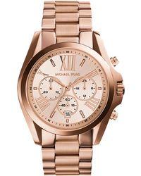 Michael Kors Oversized Bradshaw Rose Gold-Tone Watch - Lyst