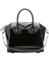 Givenchy Antigona Small Patent-Leather Tote - Lyst