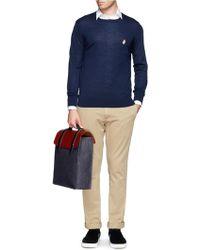 Seventy Eight Percent Esteban' Leather Denim Backpack
