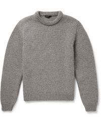 Calvin Klein Wool and Cashmere-blend Sweater - Lyst