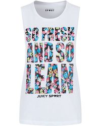 Juicy Couture So Fresh Muscle Tee white - Lyst