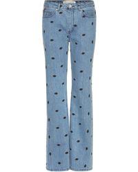 Être Cécile - Embroidered Jeans - Lyst