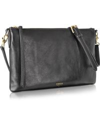 Fossil - Sydney Top Zip Flat Crossbody Bag - Lyst