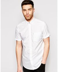 Ben Sherman Oxford Shirt With Short Sleeves - Lyst