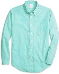 Brooks Brothers Madison Fit Seersucker Stripe Sport Shirt - Lyst