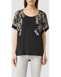 AllSaints | Eden Tri T-shirt | Lyst