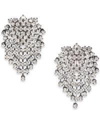 Kenneth Jay Lane Cluster Clip-On Earrings/Gunmetal - Lyst