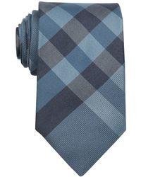 Burberry Marine Blue Nova Check Printed Silk Tie - Lyst