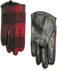 Mango Wool Leather-blend Gloves - Lyst