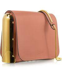 Jean Paul Gaultier - Powder Pink Leather Shoulder Bag W/Metal Detail - Lyst