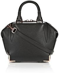 Alexander Wang Mini Emile In Pebbled Black With Rose Gold - Lyst