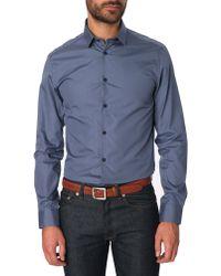 Celio Club Steel Blue Classic Shirt Shmale gray - Lyst