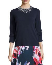 Kate Spade | Embellished Long-sleeve Sweater | Lyst
