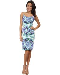 Nicole Miller Carly Water Lily Dress - Lyst
