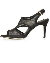 Topshop Womens Naomi Mesh Sandals  Black - Lyst