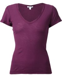 James Perse Purple Casual T-shirt - Lyst