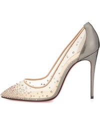 Christian Louboutin Follies Crystal Mesh Red Sole Pump - Lyst