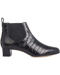 Max Mara - Albino Croc-Embossed Leather Boots - Lyst