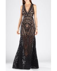 BCBGMAXAZRIA Maranda Burnout Lace Dress - Lyst