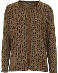Topshop Jacquard Throw On Cardigan - Lyst