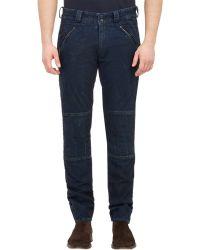 Ralph Lauren Black Label - Wrinkled Denim Jeans - Lyst