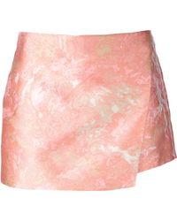 Narciso Rodriguez Jacquard Pattern Wrap-Miniskirt - Lyst