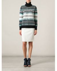 Emilio Pucci Embellished Roll Neck Sweater - Lyst