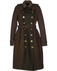 Burberry Prorsum Coat green - Lyst