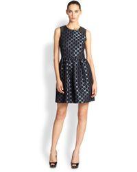 4.collective Dot Jacquard Dress - Lyst