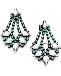 DANNIJO Antionette Ii Crystal Chandelier Earrings - Lyst