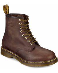 Dr. Martens Aztec Crazy Horse Leather Ankle Boots - Lyst