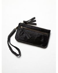 Free People Washed Leather Wallet - Lyst
