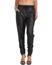 Mink Pink Out Bound Faux Leather Jogger - Lyst
