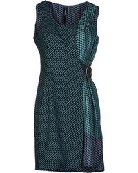Pianurastudio Short Dress green - Lyst