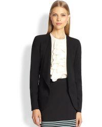 Etro Wool Draped-Front Jacket - Lyst