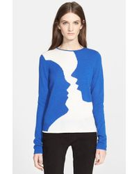 Creatures of the Wind - 'kara' Intarsia Knit Cashmere Sweater - Lyst