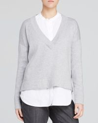 Eileen Fisher Deep V Boxy Sweater - Lyst