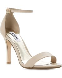 Dune Hydro Leather Sandals Nudeleather - Lyst