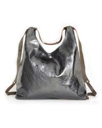 Ina Kent Hide2 Metallic Anthracite silver - Lyst
