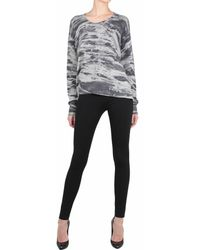 Enza Costa Printed Cashmere Over-Sized Pull - Lyst