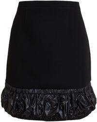 Christopher Kane Nylon Hem Mini Skirt - Lyst