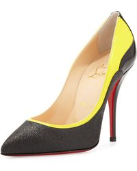 Christian Louboutin Tucsy Glitter  Patent Red Sole Pump - Lyst