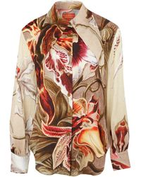 Vivienne Westwood Red Label Multicolour Floral Long Collared Shirt - Lyst