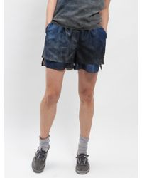 Blankblank Deep Waters Silk Shorts - Lyst