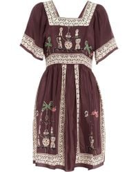 Anna Sui Menagerie Print Dress - Lyst