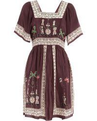 Anna Sui Menagerie Print Dress blue - Lyst