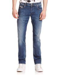 Diesel Zatiny Bootcut Jeans blue - Lyst
