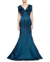 ESCADA V-Neck Sleeveless Silk Charmeuse Gown - Lyst