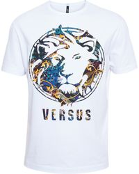 Versus  Raised Lion T-Shirt - Lyst